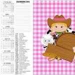 Calendario 2016 Fazendinha Menina 2