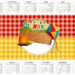 Calendario 2016 Festa Junina