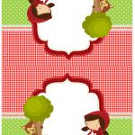 Cartao Agradecimento de mesa Chapeuzinho Vermelho