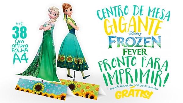 Centro de Mesa Frozen Fever - Febre Congelante