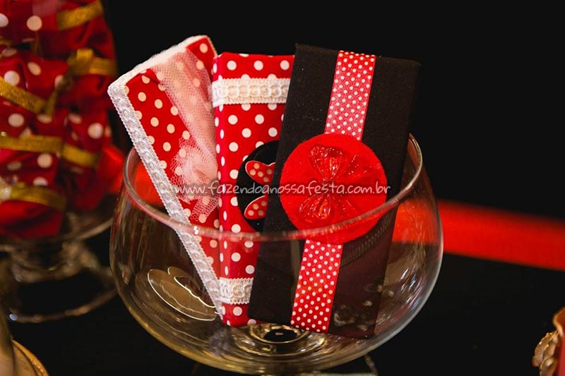 Chocolates Festa Minnie Vermelha da Maria Clara