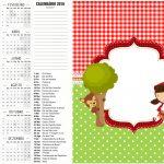 Convite Calendario 2 2016 Chapeuzinho Vermelho