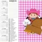 Convite Calendario 2016 2 Fazendinha Menina Morena