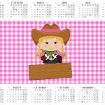 Convite Calendario 2016 Fazendinha Menina