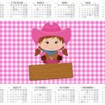 Convite Calendario 2016 Fazendinha Menina Morena