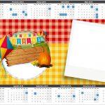 Convite Calendário 2016 Kit Festa Junina Vermelho e Amarelo