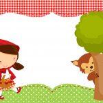 Convite Chapeuzinho Vermelho e Lobo Mau