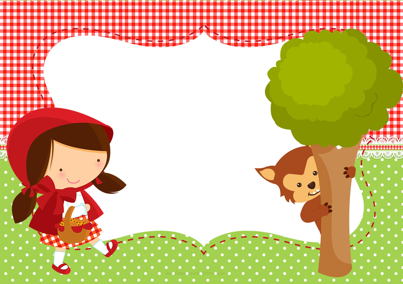 Populares Convite Chapeuzinho Vermelho e Lobo Mau - Fazendo a Nossa Festa IP62