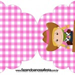 Convite Cupcake Fazendinha Menina