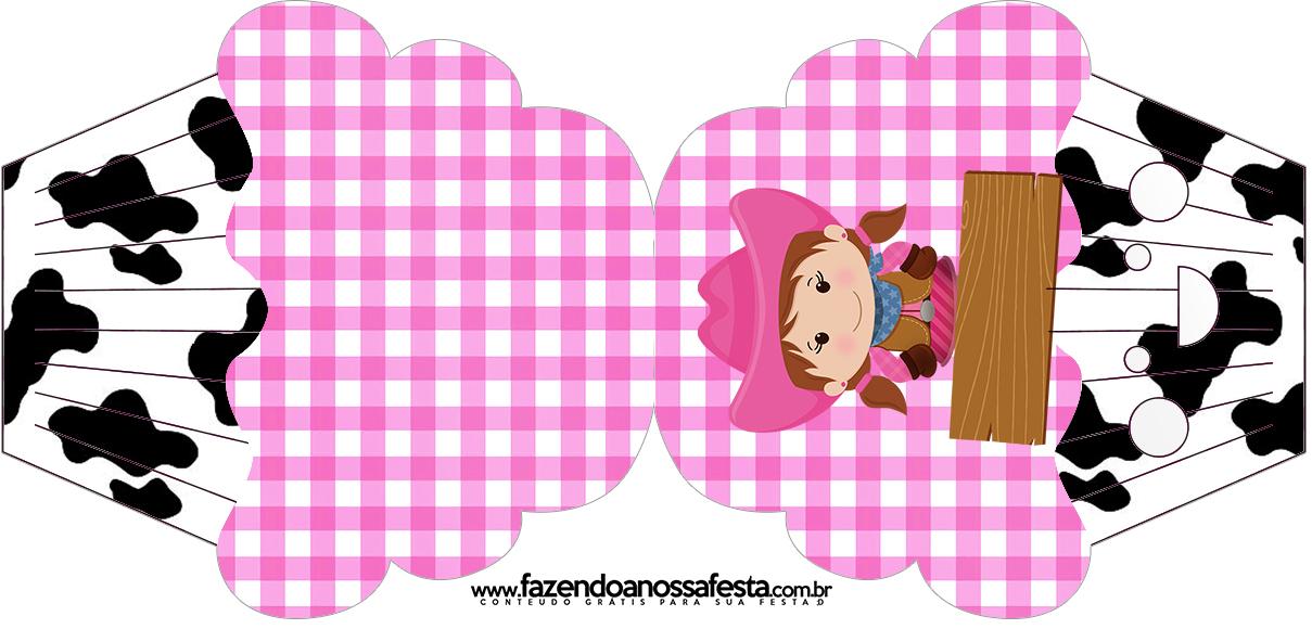 Convite Cupcake Fazendinha Menina Morena