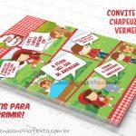 Convite Gibi Chapeuzinho Vermelho – Grátis para Imprimir