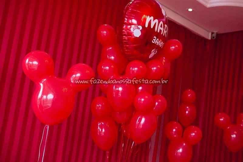 Decoracao Balao Festa Minnie Vermelha da Maria Clara