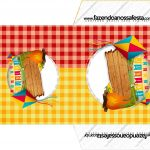 Envelope CD DVD Kit Festa Junina Vermelho e Amarelo