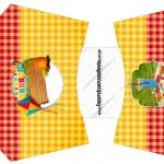 Envelope fritas Kit Festa Junina Vermelho e Amarelo