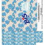 Folha A4 Pronta para Imprimir Caixa Bis Dia das Mães Floral Azul