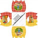 Forminhas Docinhos Flor Kit Festa Junina Vermelho e Amarelo