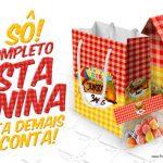 Kit Festa Junina Vermelho e Amarelo Grátis para Imprimir