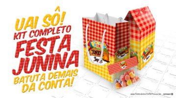 Kit Festa Junina Vermelho e Amarelo Grátis