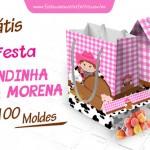 Kit Festa Fazendinha Menina Morena – Grátis