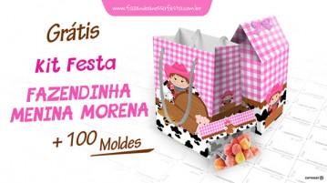 Kit Festa Fazendinha Menina Morena
