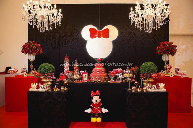 Festa Minnie Vermelha da Maria Clara -> Decoraçao De Festa Da Minnie Vermelha Simples