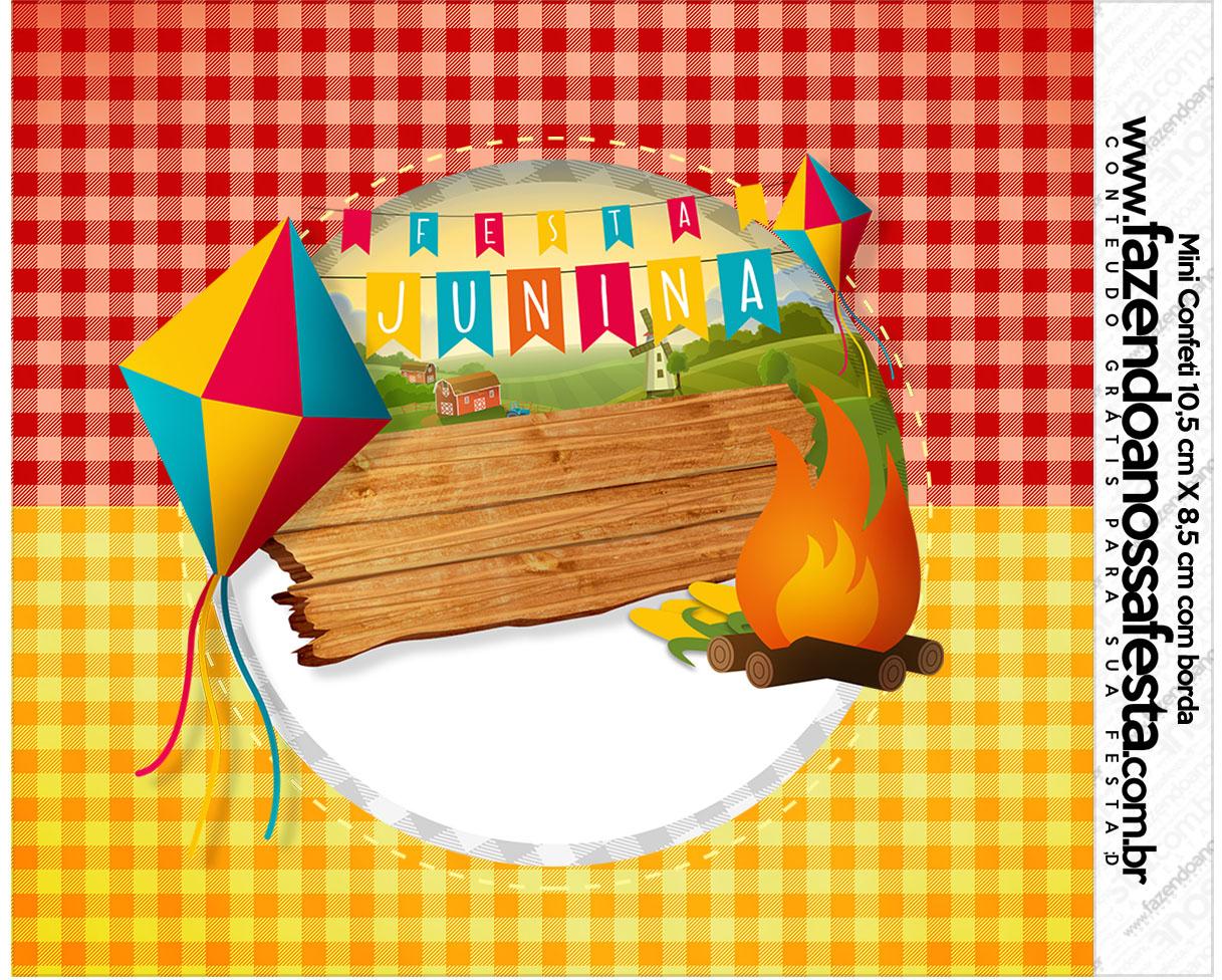 Armario Nancy Famosa ~ Mini Confeti Festa Junina Fazendo a Nossa Festa
