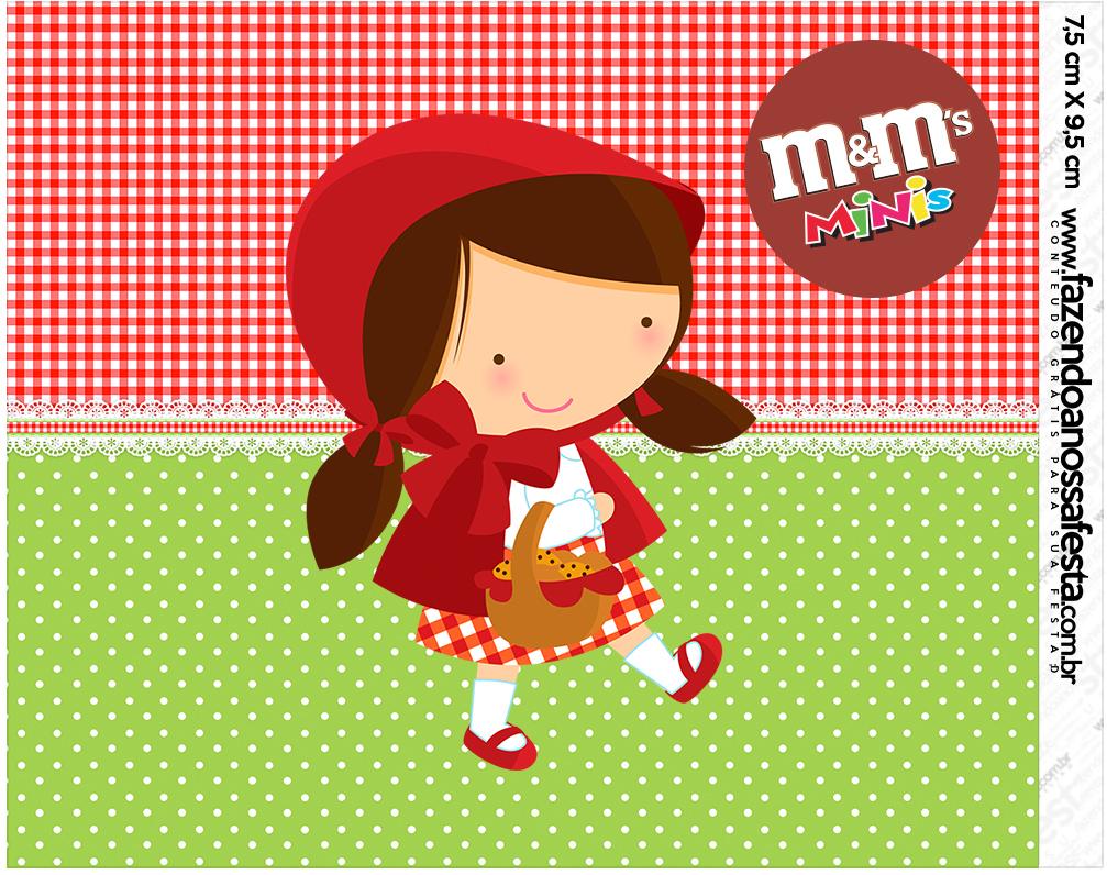 Mini M&M Personalizados Chapeuzinho Vermelho