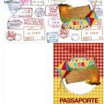 Passaporte Kit Festa Junina Vermelho e Amarelo