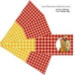 Piramide Kit Festa Junina Vermelho e Amarelo