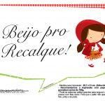 Plaquinhas Chapeuzinho Vermelho 11