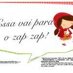 Plaquinhas Chapeuzinho Vermelho 12