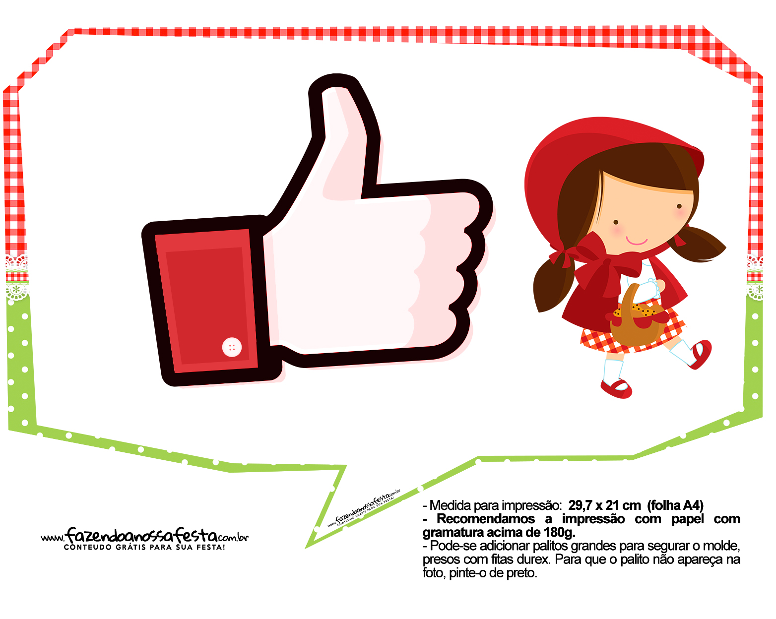 Plaquinhas Chapeuzinho Vermelho 8