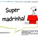 Plaquinhas para festa Snoopy 8
