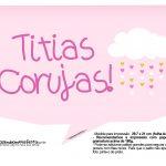 Plaquinhas divertidas Chuva de Bencao para Meninas 14