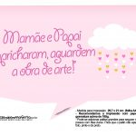 Plaquinhas divertidas Chuva de Bencao para Meninas 15