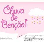 Plaquinhas divertidas Chuva de Bencao para Meninas 8