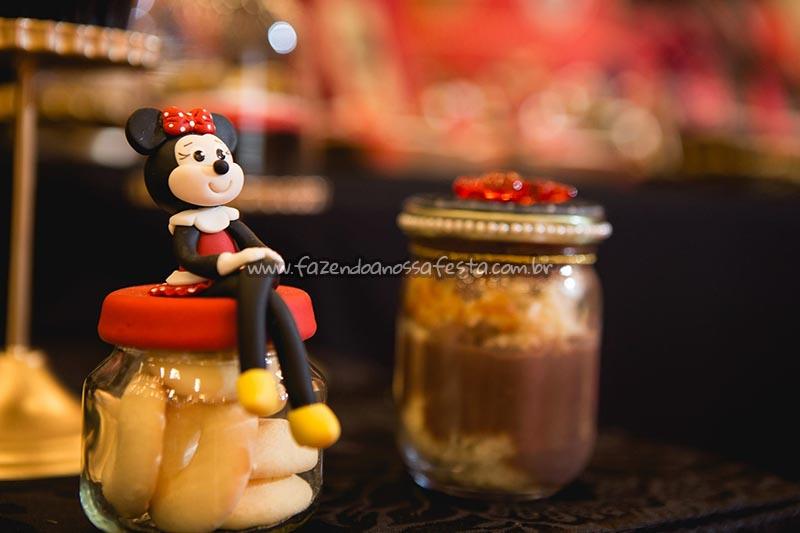 Pote Papinha Festa Minnie Vermelha da Maria Clara
