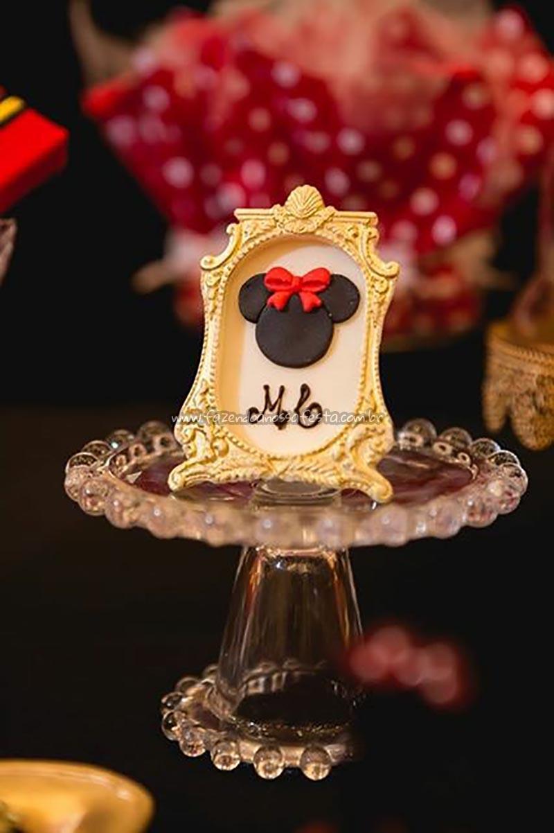 Quadrinho Festa Minnie Vermelha da Maria Clara
