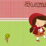 Revista Colorindo Personalizados Chapeuzinho Vermelho