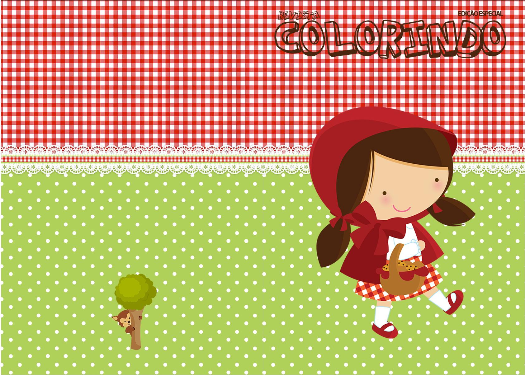 Revista Colorindo Chapeuzinho Vermelho