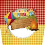 Rotulo Balde de Pipoca Festa Junina