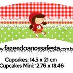 Saias Wrappers para Cupcakes 2 Chapeuzinho Vermelho