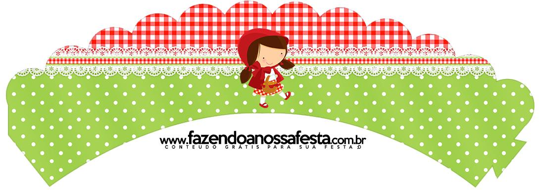 Saias Wrappers para Cupcakes Chapeuzinho Vermelho