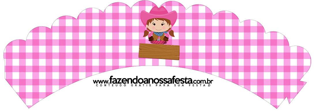 Saias Wrappers para Cupcakes Fazendinha Menina Morena