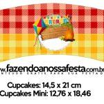 Saias Wrappers para Cupcakes Festa Junina