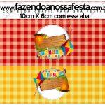 Saquinho de Balas Kit Festa Junina Vermelho e Amarelo