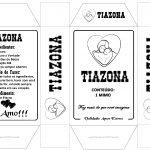 Caixa Tiazona Preto e branco