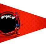 Bandeirinha Sanduiche 2 Miraculous Ladybug