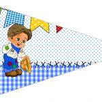 Bandeirinha Sanduiche 3 Festa Junina Azul