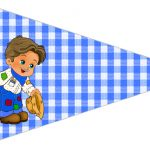 Bandeirinha Sanduiche 4 Festa Junina Azul